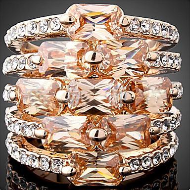 Women's Statement Ring Statement Jewelry Fashion Zircon Cubic Zirconia Alloy Costume Jewelry Party