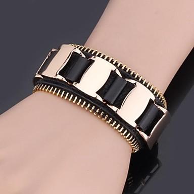 U7® 18K Gold Plated Copper Genuine Leather Bracelet for Men Resizable Rock Bracelet Fashion Jewelry