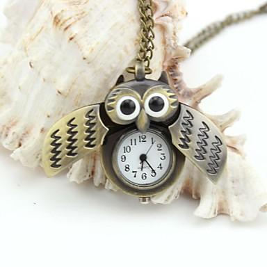 Personalized Owl Pocket Watch  Enamel Metal Lanyards