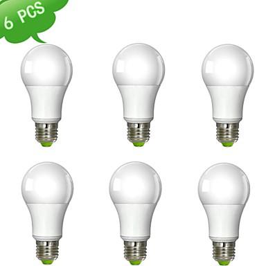 abordables Ampoules électriques-9 W Ampoules Globe LED 900 lm E26 / E27 A60(A19) 1 Perles LED COB Intensité Réglable Blanc Chaud 220-240 V / 6 pièces / RoHs