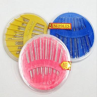 gospodărie acasă cusut cutie kit de pachet ace ac disc manual coase pe ac instrument DIY (culoare aleatorii)