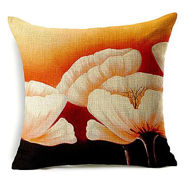 1 buc Bumbac/In Față de pernă, Floral Modern/Contemporan
