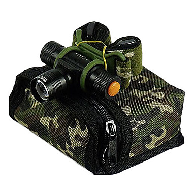 Jujingyang JY-201 Stirnlampen LED 3 Beleuchtungsmodus einstellbarer Fokus / Wiederaufladbar / Wasserfest Camping / Wandern / Erkundungen