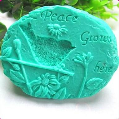 Új kő madár napraforgó békét nő itt fondant torta csokoládé szilikon öntőforma torta dekoráció eszközök, l11.1cm * w9.2cm * h4cm