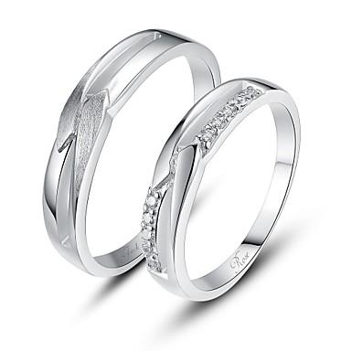 személyre szabott ajándékot egyszerű 925 sterling ezüst gyűrű párok