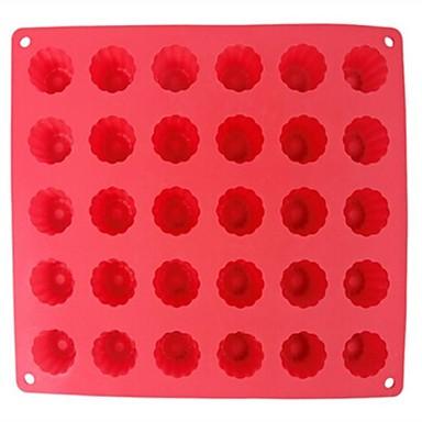 30 Hole Bucket Shape Cake Ice Jelly Chocolate Molds,Silicone 29.3×26.8×3.3 CM(11.5×10.6×1.3INCH)