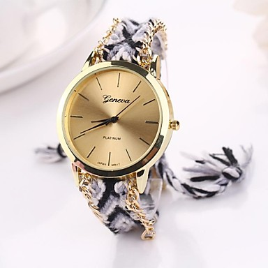 Women's Fashion Watch Quartz Fabric Band Bohemian Multi-Colored