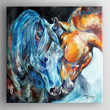 Handgeschilderde Abstract Eén paneel Canvas Hang-geschilderd olieverfschilderij For Huisdecoratie