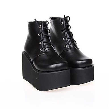 Lolita Shoes Punk Lolita Lolita Platform Shoes Solid 10 CM For PU Leather/Polyurethane Leather