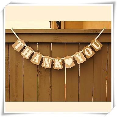 Geburtstag / Brautparty / Babyparty Hartkartonpapier Hochzeits-Dekorationen Klassisch Frühling / Sommer / Herbst
