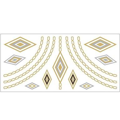 #(1) Mintás - Ékszer-sorozat - #(20x10) - Papír - Arany - Minta - Női/Girl/Felnőtt/Tini - Tetkó matricák