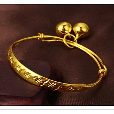 Γυναικεία ID Βραχιόλι Μοντέρνα Χαλκός Επιχρυσωμένο 24K Plated Gold Κοσμήματα Καθημερινά Κοστούμια Κοσμήματα