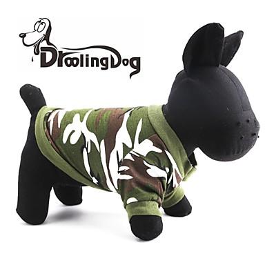 Kedi Köpek Kapüşonlu Giyecekler Köpek Giyimi Nefes Alabilir kamuflaj Kırmzı Yeşil Kostüm Evcil hayvanlar için