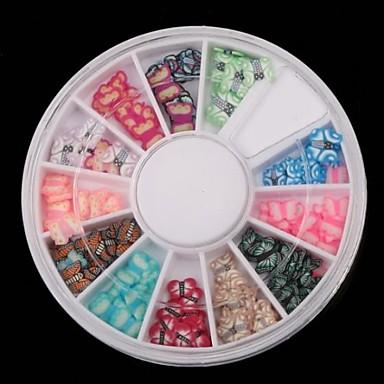 12 χρώμα σειρά πεταλούδα μαλακό κεραμική τέχνη διακόσμησης πικάπ νυχιών