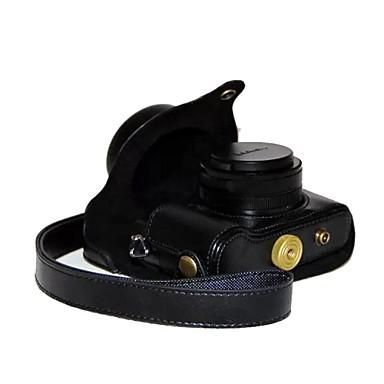cheap Camera & Photo-Dengpin® Retro PU Leather Litchi Texture Camera Case Bag Cover with Shoulder Strap for Panasonic LUMIX LX100 DMC-LX100