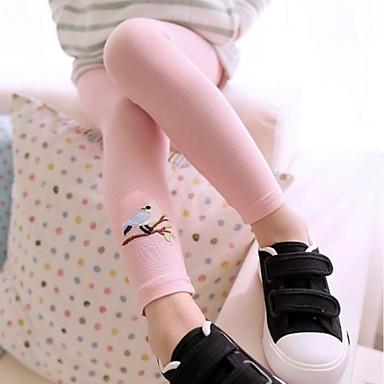Appena Bambino (1-4 Anni) Tinta Unita Cotone - Poliestere Leggings Giallo #02568554 Prendiamo I Clienti Come Nostri Dei