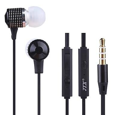 jtx-jl520 3.5mm gürültü önleyici kulak içi kulaklık iphone ve diğer telefonlar için mike ses kontrolü