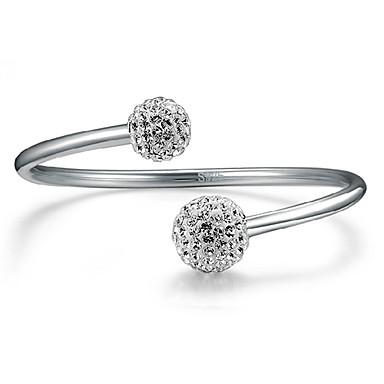 커프 팔찌 유니크 디자인 패션 조절 가능 열린 모조 다이아몬드 보석류 보석류 제품 파티