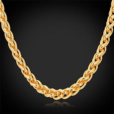 Women's Shape Fashion Choker Necklace Chain Necklace Gold Plated Alloy Choker Necklace Chain Necklace Wedding Party Daily Casual Costume