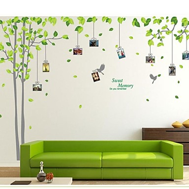 Photo Stickers - Plane Wall Stickers Landscape Living Room / Bedroom / Study Room / Office / Removable