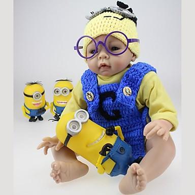 Lebensechte Puppe Baby 22inch Silikon / Vinyl - Neugeborenes, lebensecht, Handgemacht Mädchen Kinder Geschenk