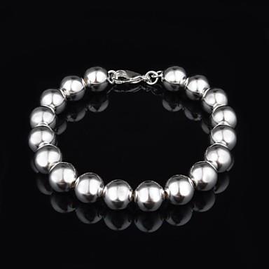 Fashion Sterling Silver Beading Women's Bracelet Elegant Style