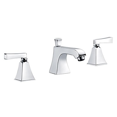 Centerset Two Handles Three Holes Chrome, Bathroom Sink Faucet