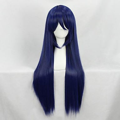 Cosplay Wigs Cosplay Umi Sonoda Blue Long Anime Cosplay Wigs 80 CM Heat Resistant Fiber Female