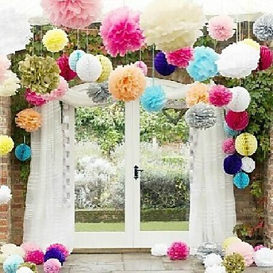 Tissue Paper Decoration Mixed Material Wedding Decorations Wedding ...