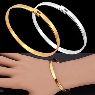 u7®vintage karkötő férfiak 18 k valódi arany platinával bevont egyszerű karperec divat ékszerek a férfiak / nők