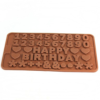 gelukkige verjaardag stijl ijs rooster ijsblokjes chocoladevorm