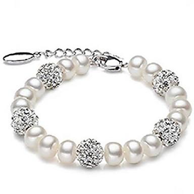 Damen - Runde Armreifen Weiß Armbänder Für Hochzeit Party Jahrestag