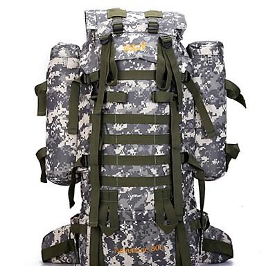 65 L Sırt Çantası Paketleri Arka Çantaları Kamp & Yürüyüş Seyahat Su Geçirmez Yağmur-Geçirmez Dahili Ketıl Çantası Giyilebilir Naylon