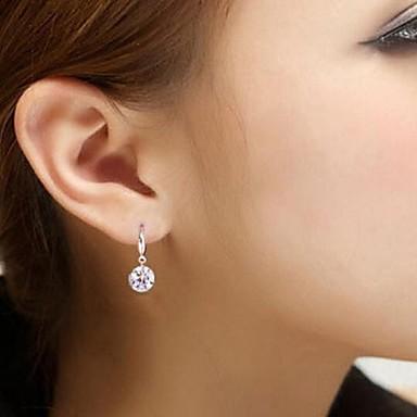 Dames Europees Sterling zilver Strass Zilver Gesimuleerde diamant Sieraden Zilver Bruiloft Feest Dagelijks Kostuum juwelen