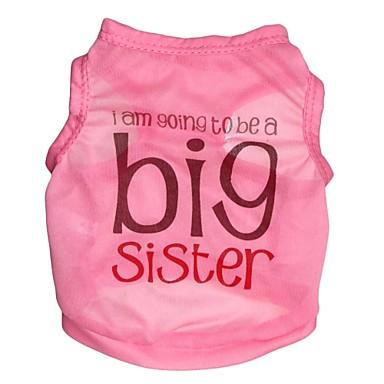 Cat Dog Shirt / T-Shirt Dog Clothes Letter & Number Pink Costume For Pets