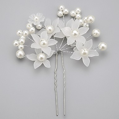 Women's Flower Girl's Alloy Imitation Pearl Acrylic Headpiece-Wedding Special Occasion Hair Pin