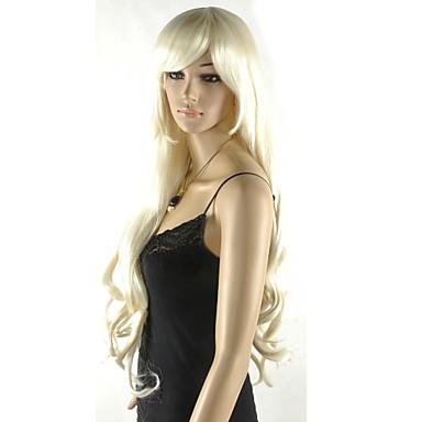 Synthetische pruiken Gelaagd kapsel Blond Black Pruik Synthetisch haar Feest Dagelijks
