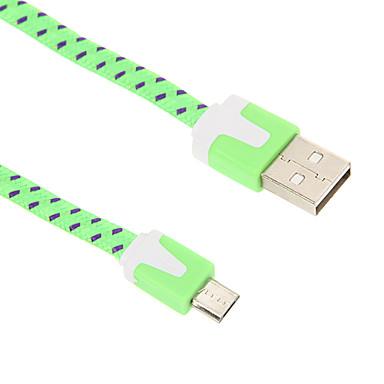 Micro USB 2.0 / USB 2.0 Örgülü / Düz Kablo için 200cm Naylon