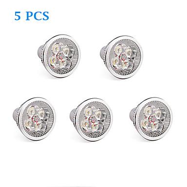 GU10 LED лампы накаливания 4 светодиоды Высокомощный LED Тёплый белый Холодный белый 360lm 3500/6000K AC 85-265V