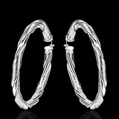 Women's Hoop Earrings Fashion Brass Jewelry Daily Costume Jewelry