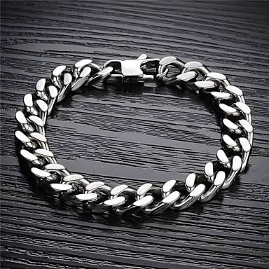 Men's Chain Bracelet Titanium Steel Jewelry Christmas Gifts Wedding Party Daily Casual Sports