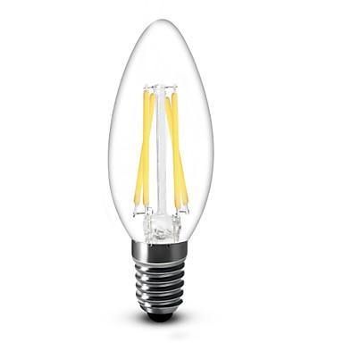 shenmeile E14 4W 4 COB 350 LM Warm White C35 edison Vintage LED Filament Bulbs AC 220-240 V