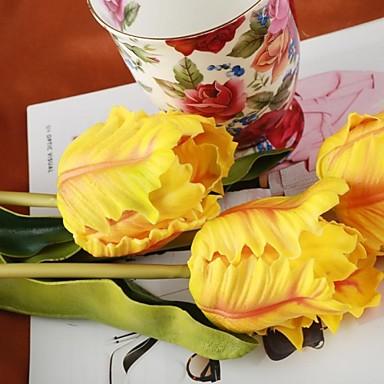 Hollandia sárga narancs mesterséges tulipán 4 db / csomó 19.69