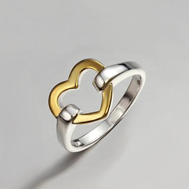 Damen Bandring - Sterling Silber, vergoldet Herz, Liebe Modisch, Erklärung Eine Größe Gold / Silber Für Party