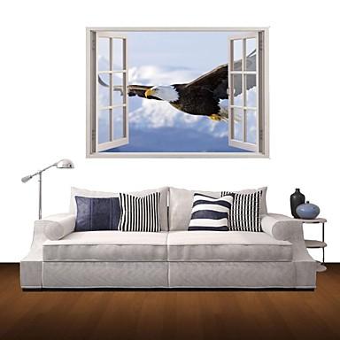 Ζώα Τοπίο Αυτοκολλητα ΤΟΙΧΟΥ 3D Αυτοκόλλητα Τοίχου Διακοσμητικά αυτοκόλλητα τοίχου Υλικό Αφαιρούμενο Αρχική Διακόσμηση Wall Decal