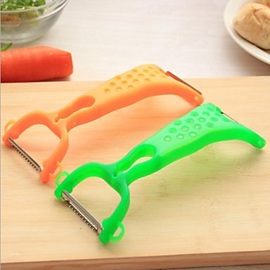 Candy Colored Multifunctional Peeler,Stainless Steel+ABS 17×6×0.2 CM(6.7×2.4×0.1 INCH)