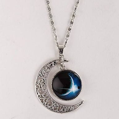 Women's Galaxy Pendant Necklace Alloy Pendant Necklace ,
