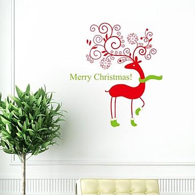 Dyr Jul Højtid Veggklistremerker Fly vægklistermærker Dekorative Mur Klistermærker, Vinyl Hjem Dekor Veggoverføringsbilde Vegg