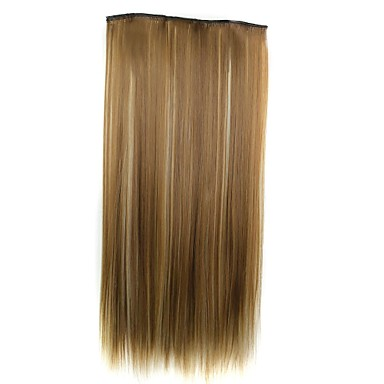 22 inch Synthetic Hair Hair Extension Straight Classic Clip In/On Daily High Quality Synthetic Women's Women