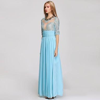 kvinnors rund krage 1 2 ärm lång festklänning 2702559 2019 –  61.07 9540f573698e4